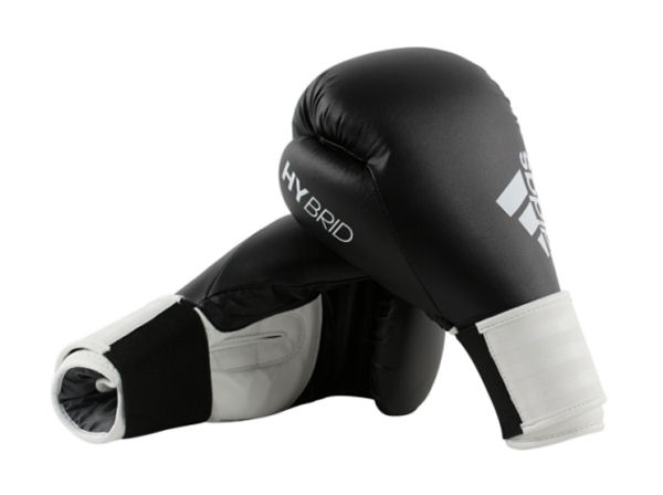 Adidas Hybrid 100 Boxing Gloves Box Fit Boxercise - Black White